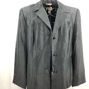 Talbots black silk fully lined jacket 10